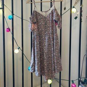 🥢Floral Cold Shoulder Dress